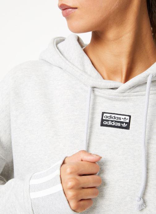 Vêtements adidas originals Vocal Crop Hood Blanc vue face