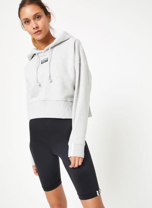 Vêtements adidas originals Vocal Crop Hood Blanc vue droite