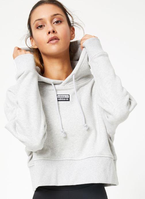 Vêtements adidas originals Vocal Crop Hood Blanc vue détail/paire