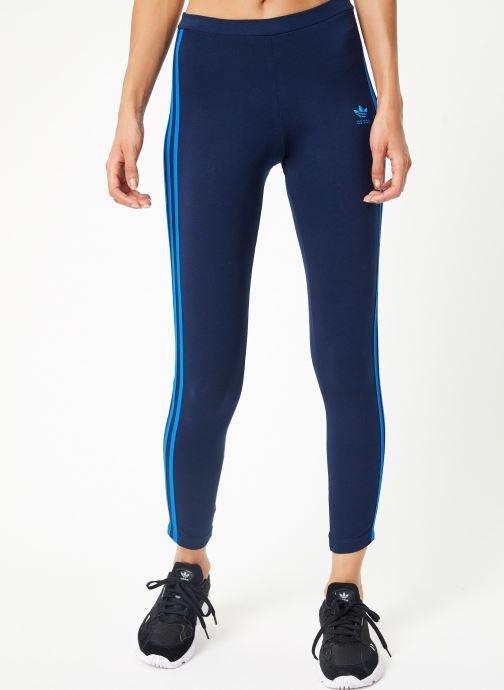 Vêtements adidas originals 3 Str Tight Bleu vue détail/paire