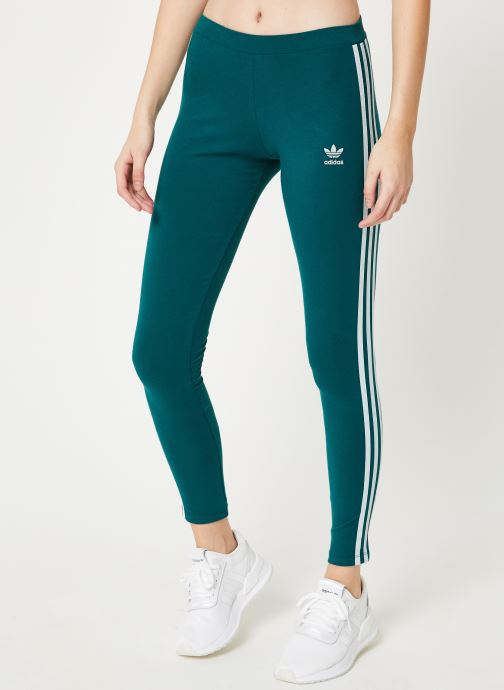 Vêtements adidas originals 3 Str Tight Vert vue détail/paire