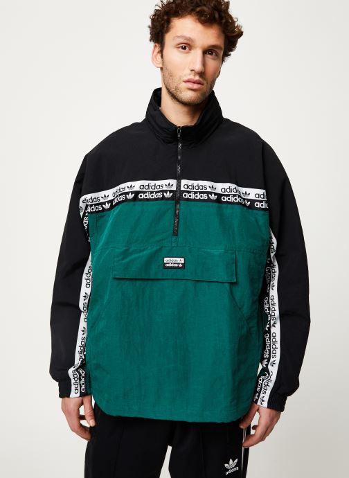 Vêtements adidas originals Mini Emb Hoody Vert vue droite