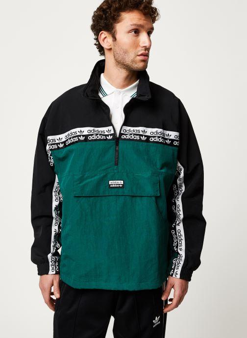 Vêtements adidas originals Mini Emb Hoody Vert vue détail/paire