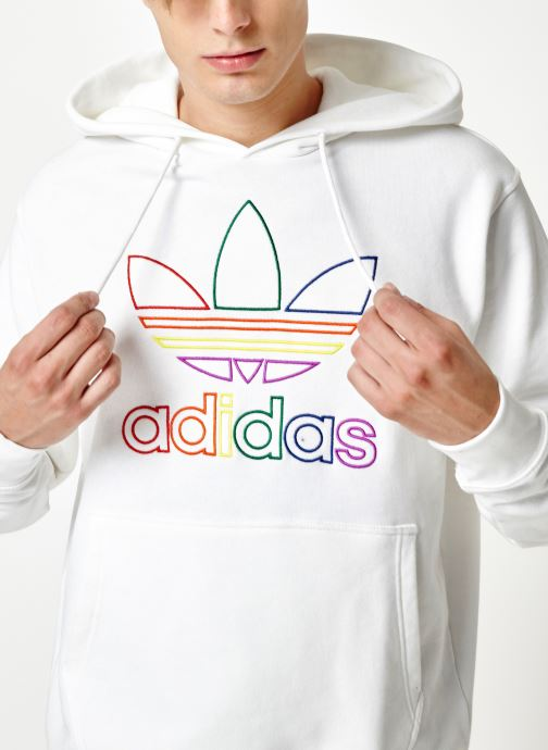 Vêtements adidas originals Pride Hoody Blanc vue face