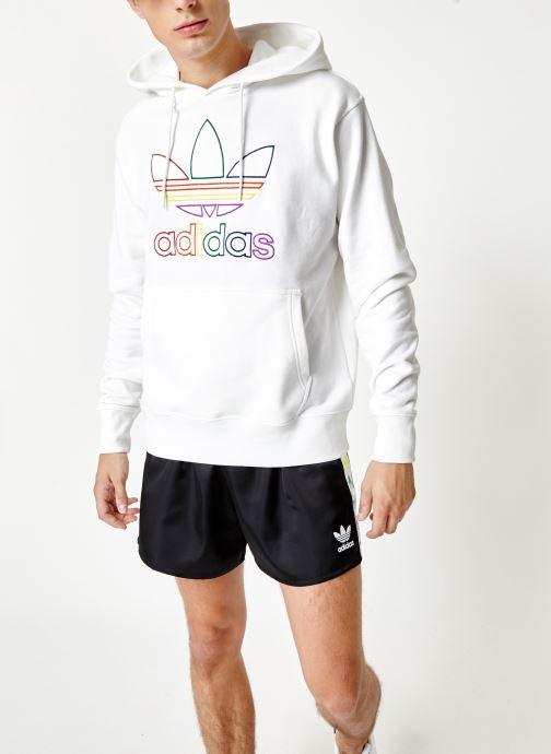 Vêtements adidas originals Pride Hoody Blanc vue détail/paire