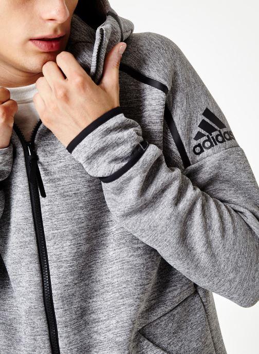 Vêtements adidas performance M Zne Hd Fr Gris vue face