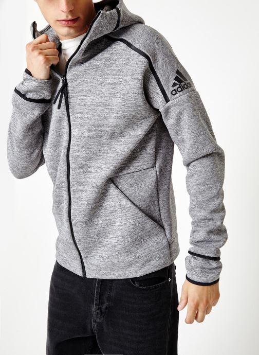 Vêtements adidas performance M Zne Hd Fr Gris vue détail/paire