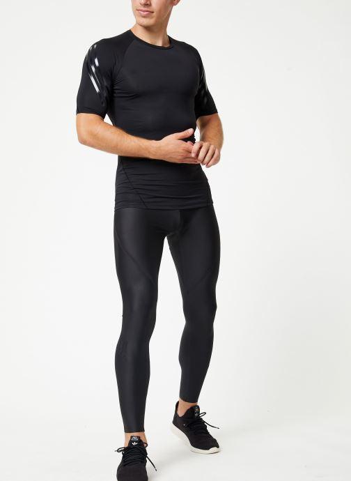 Vêtements adidas performance Ask Tec Ss 3S Noir vue bas / vue portée sac