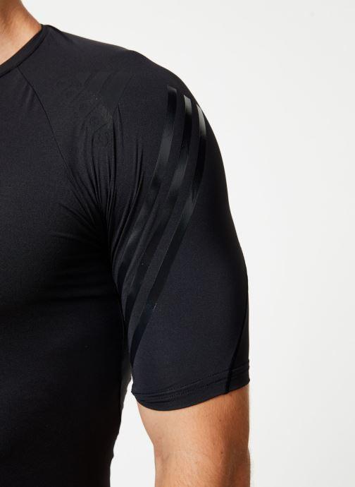 Vêtements adidas performance Ask Tec Ss 3S Noir vue face