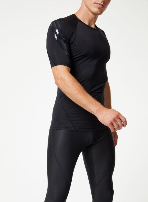 Vêtements adidas performance Ask Tec Ss 3S Noir vue droite