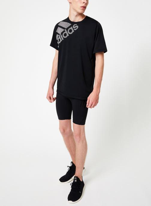 Vêtements adidas performance Ask Tec St 3S Noir vue bas / vue portée sac