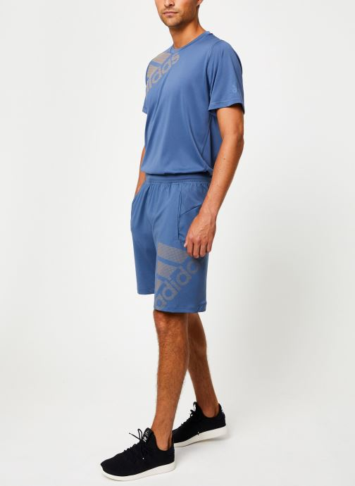 Vêtements adidas performance 4K_Spr Gf Bos Bleu vue bas / vue portée sac