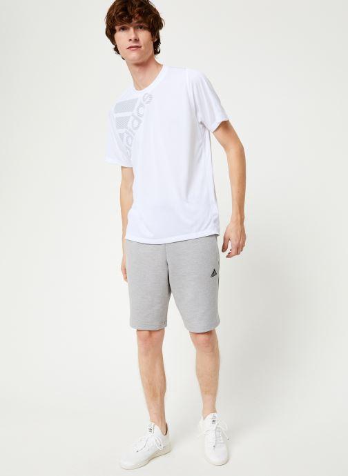 Vêtements adidas performance Id Stadium Sho Gris vue bas / vue portée sac
