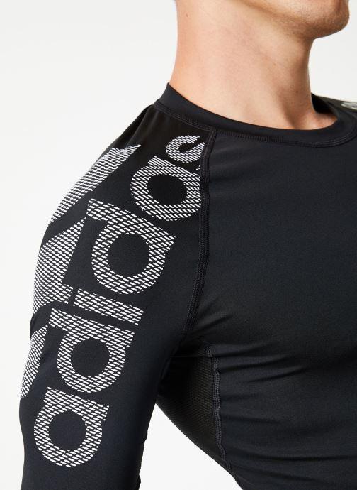 Kläder adidas performance Ask Spr Ss Bos Svart bild från framsidan