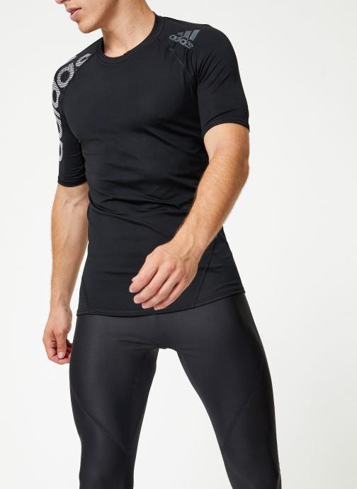 Vêtements adidas performance Ask Spr Ss Bos Noir vue droite