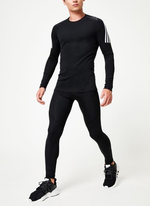 Vêtements adidas performance Ask Spr Ls 3S Gris vue bas / vue portée sac