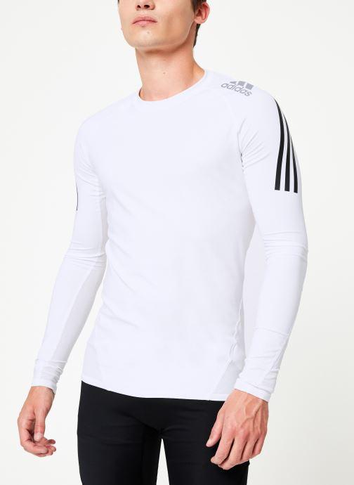 Vêtements adidas performance Ask Spr Ls 3S Blanc vue droite