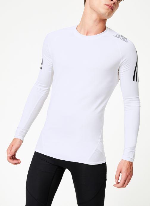 Vêtements adidas performance Ask Spr Ls 3S Blanc vue détail/paire