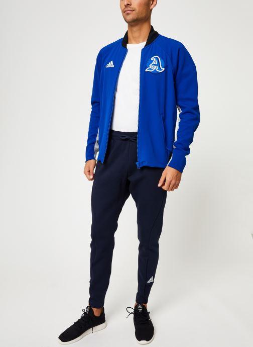 Vêtements adidas performance M V.City Jacket Bleu vue bas / vue portée sac