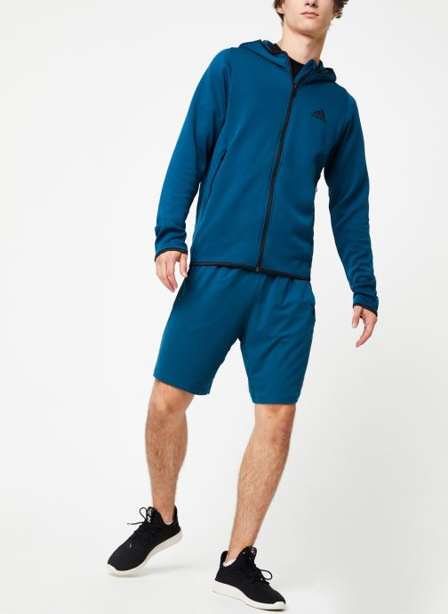 Vêtements adidas performance Warm Hoodie Bleu vue bas / vue portée sac