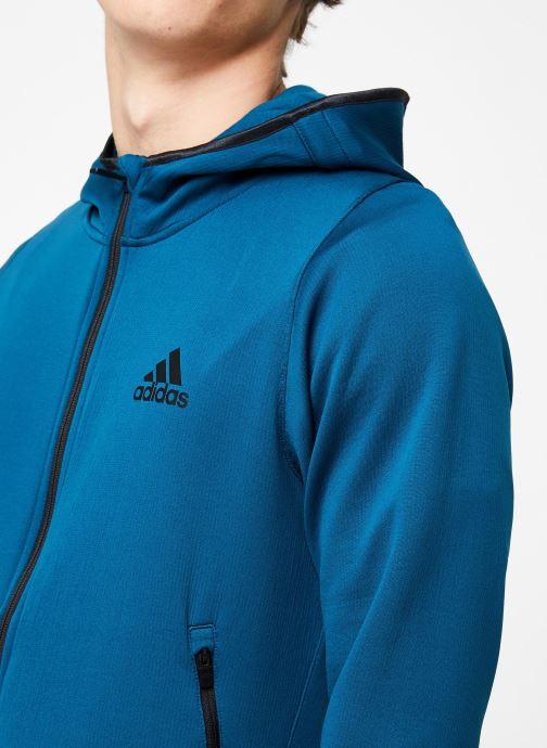 Vêtements adidas performance Warm Hoodie Bleu vue face