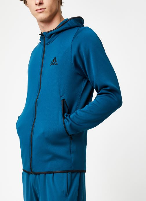 Vêtements adidas performance Warm Hoodie Bleu vue droite
