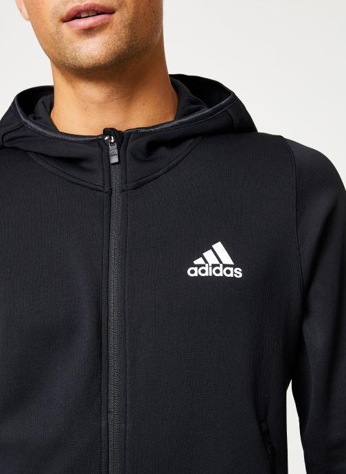 Kleding adidas performance Warm Hoodie Zwart voorkant