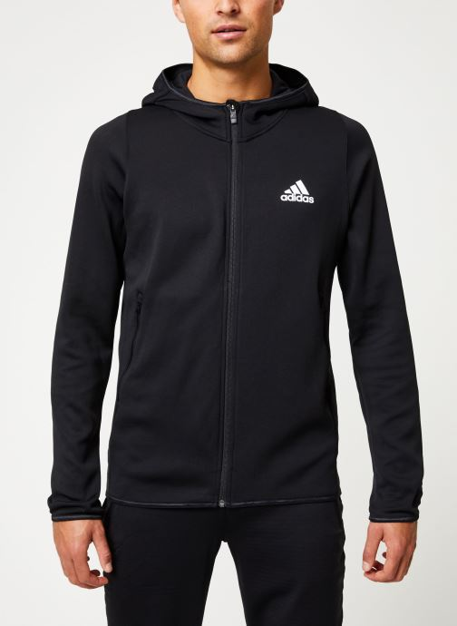 Kleding adidas performance Warm Hoodie Zwart detail