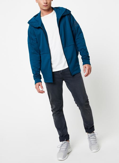 Vêtements adidas performance M Id Fz Ch Bleu vue bas / vue portée sac
