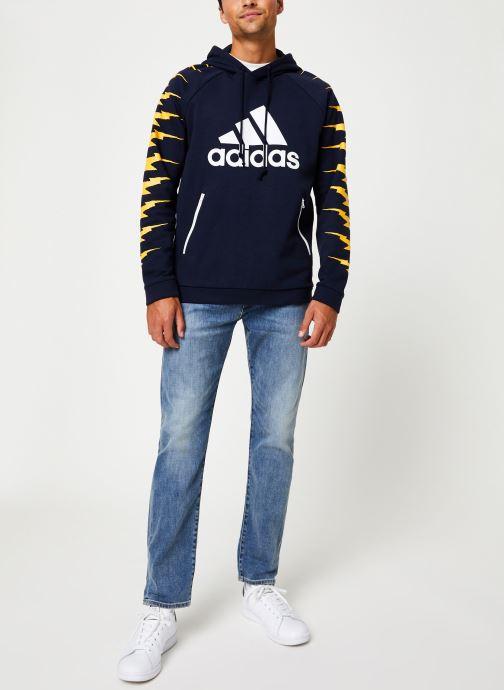 Vêtements adidas performance Id Fl Grfx Hd Bleu vue bas / vue portée sac