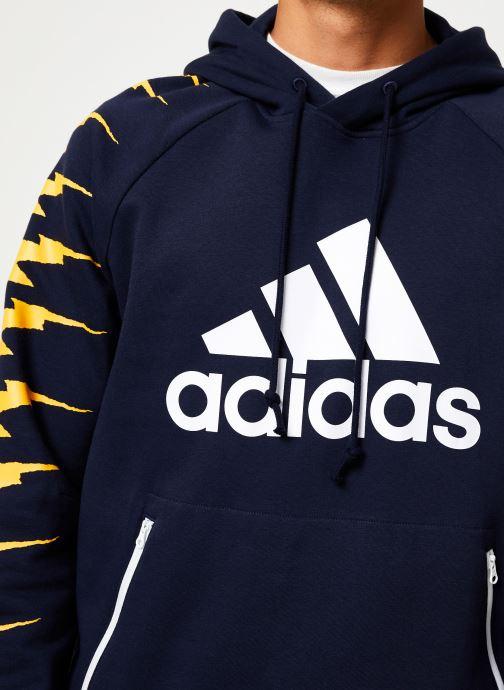 Vêtements adidas performance Id Fl Grfx Hd Bleu vue face
