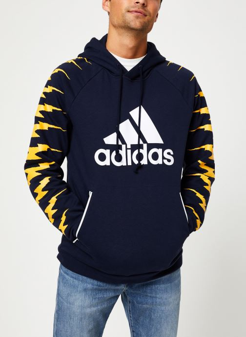 Vêtements adidas performance Id Fl Grfx Hd Bleu vue droite