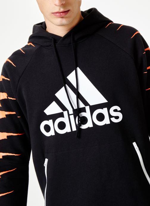 Vêtements adidas performance Id Fl Grfx Hd Noir vue face