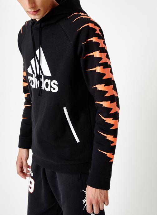 Vêtements adidas performance Id Fl Grfx Hd Noir vue droite