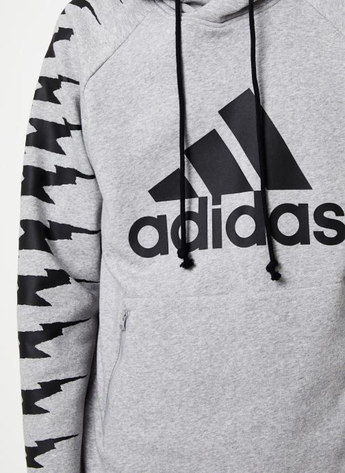 Vêtements adidas performance Id Fl Grfx Hd Gris vue face