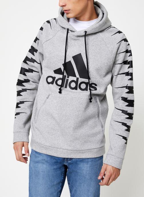 Vêtements adidas performance Id Fl Grfx Hd Gris vue détail/paire