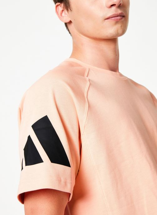 Vêtements adidas performance Tp Heavy Tee Rose vue face