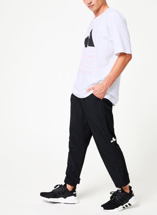Vêtements adidas performance Tp 7/8 Pant Noir vue bas / vue portée sac