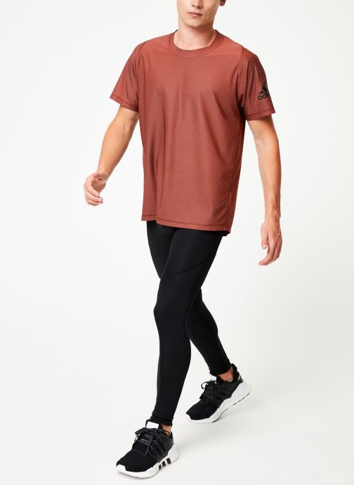 Kleding adidas performance Knit Jacqd T Oranje onder