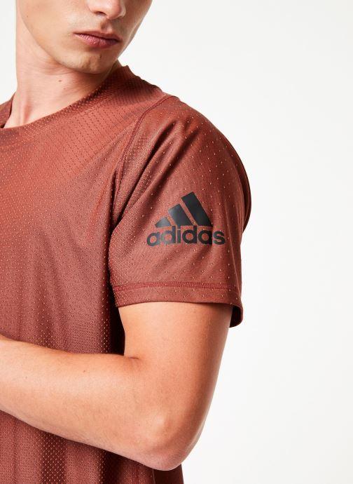 Kleding adidas performance Knit Jacqd T Oranje voorkant