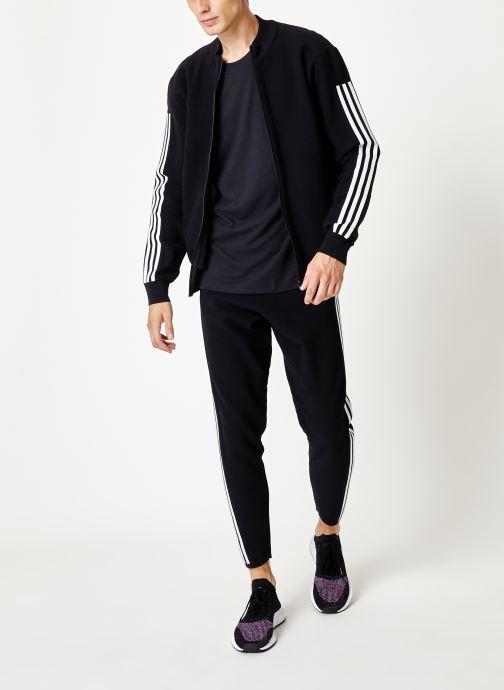 Vêtements adidas performance M Id Knit Tt Noir vue bas / vue portée sac