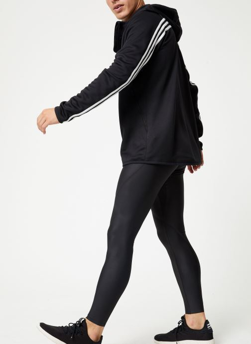 Tøj adidas performance Daily 3S Hoodie Sort se forneden