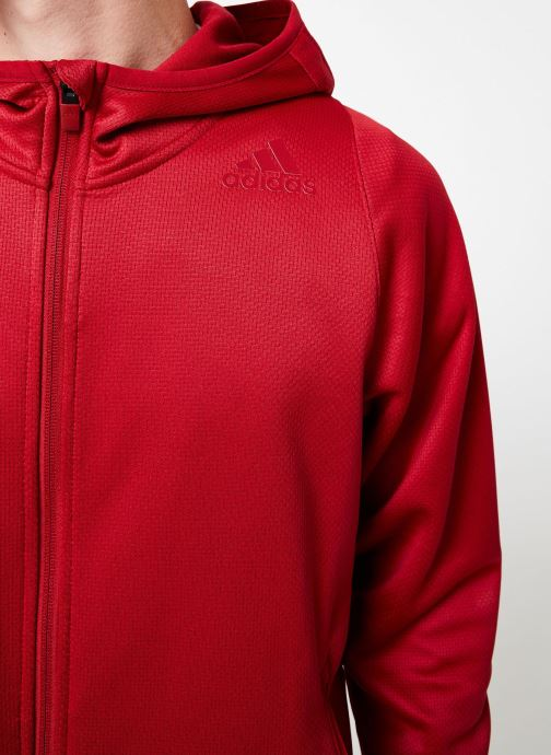 Vêtements adidas performance Daily 3S Hoodie Rouge vue face
