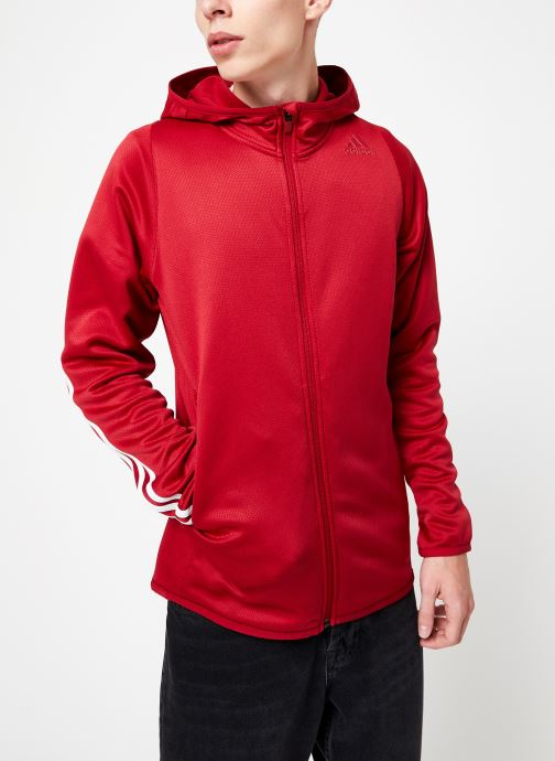 Vêtements adidas performance Daily 3S Hoodie Rouge vue droite