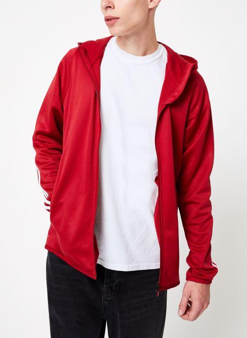 Vêtements adidas performance Daily 3S Hoodie Rouge vue détail/paire