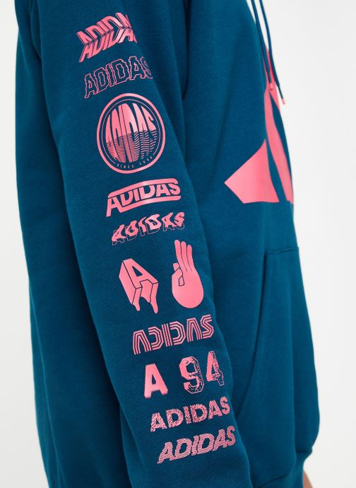 Vêtements adidas performance Tp Oh Hood 2 Bleu vue face