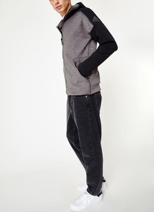 Vêtements adidas performance M Zne Hd Hybrid Noir vue bas / vue portée sac