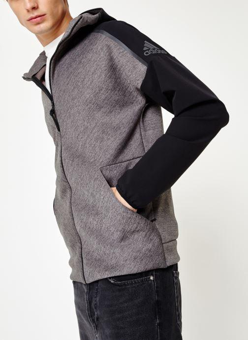 Vêtements adidas performance M Zne Hd Hybrid Noir vue droite
