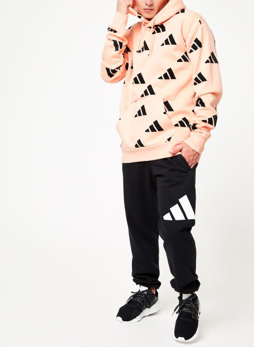 Vêtements adidas performance Tp Oh Hood 1 Rose vue bas / vue portée sac