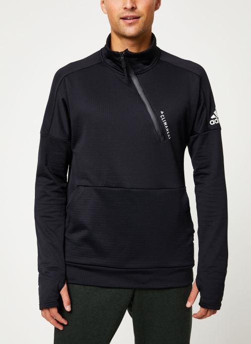 Vêtements adidas performance M Id 1/4 Zip Ch Noir vue détail/paire